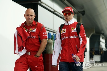 Kimi Raikkonen, Ferrari with Mark Arnall, Personal Trainer