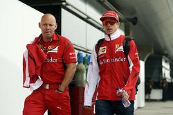 Kimi Raikkonen, Ferrari with Mark Arnall, Personal Trainer