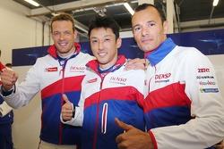 Polesitters Alexander Wurz, Kazuki Nakajima, Stéphane Sarrazin