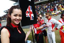 Grid girl for Max Chilton, Marussia F1 Team.