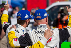 GTLM class winners Jan Magnussen, Antonio Garcia