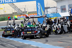 Pitstop, Robert Wickens, Mercedes AMG DTM-Team HWA DTM Mercedes AMG C-CoupÈ and Christian Vietoris, Mercedes AMG DTM-Team HWA DTM Mercedes AMG C-CoupÈ