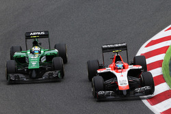 Max Chilton, Marussia F1 Team MR03 and Marcus Ericsson, Caterham CT05