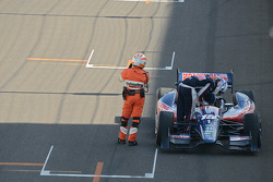 Graham Rahal, Rahal Letterman Lanigan Racing after the start crash