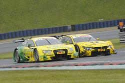 Mike Rockenfeller, Audi Sport Team Phoenix, Audi RS 5 DTM, versus Timo Glock, BMW Team MTEK, BMW M4 DTM,