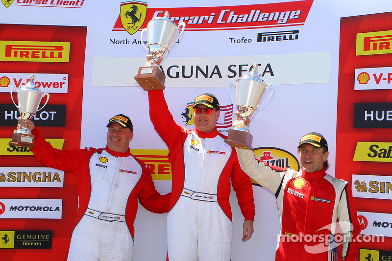 CS podium: race winner Chris Ruud, second place Jon Becker, third place Darren Crystal