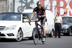 Mark Webber, WEC Porsche Team, cycles through Monaco