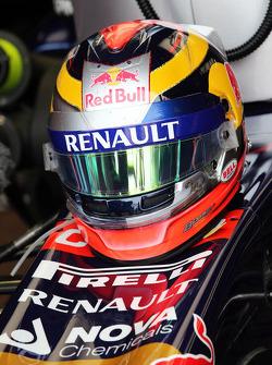 The helmet of Jean-Eric Vergne, Scuderia Toro Rosso STR9