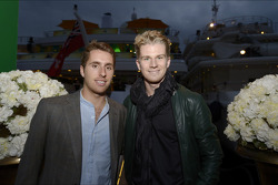 (L to R): Daniel Juncadella, Sahara Force India F1 Team Test and Reserve Driver with Nico Hulkenberg, Sahara Force India F1 at the Signature Monaco Party