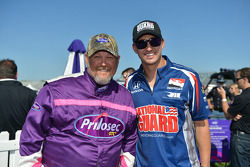 Larry the Cable Guy and Graham Rahal
