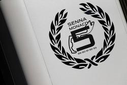 Senna tribute at McLaren Mercedes