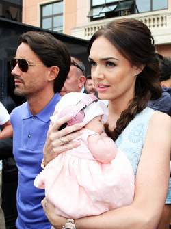 Tamara Ecclestone, and husband Jay Rutland, with their baby daughter Sophie