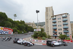Valtteri Bottas, Williams FW36 and Felipe Massa, Williams FW36 at the start of the race