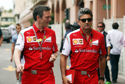 (L to R): James Allison, Ferrari Chassis Technical Director with Marco Mattiacci, Ferrari Team Principal
