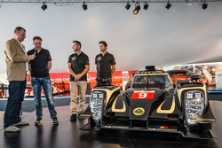 Lotus T129 LMP1 presentation: Pierre Kaffer, Christophe Bouchut and Christijan Albers with the new Lotus T129 LMP1