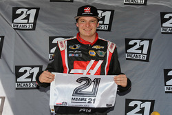 NASCAR-TRUCK: Cole Custer celebrates pole