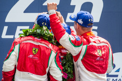LMGTE Pro podium: selfie for class winners Gianmaria Bruni, Toni Vilander, Giancarlo Fisichella