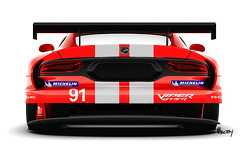 The retro livery on the SRT Dodge Viper