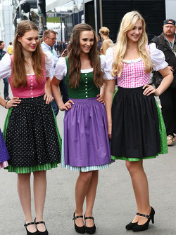 Girls in local dress