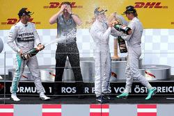 Lewis Hamilton, Mercedes AMG F1 Team, Nico Rosberg, Mercedes AMG F1 Team and Valtteri Bottas, Williams F1 Team