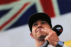 Second placed Lewis Hamilton, Mercedes AMG F1 on the podium