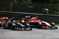 Jean-Eric Vergne, Scuderia Toro Rosso STR9 and Max Chilton, Marussia F1 Team MR03