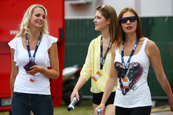 Girls in the paddock