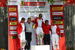 TP podium: race winner Ricardo Perez, second place Emmanuel Anassis, third place Ryan Ockey