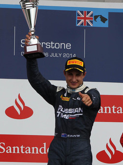 Race winner Mitch Evans