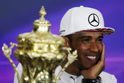 F1: race winner Lewis Hamilton, Mercedes AMG F1 in the post race FIA Press Conference
