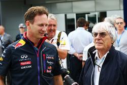 Christian Horner, Red Bull Racing Team Principal with Bernie Ecclestone