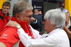 AnDr. Vijay Malyaei Cheglakov, Marussia Team Owner with Bernie Ecclestone