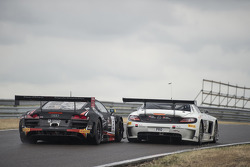 #2 Belgian Audi Club Team WRT Audi R8 LMS Ultra: Enzo Ide, Rene Rast and #84 HTP Motorsport Mercedes SLS AMG GT3: Maximilian Buhk, Maximilian Götz
