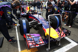 Sebastian Vettel, Red Bull Racing RB10 on the grid