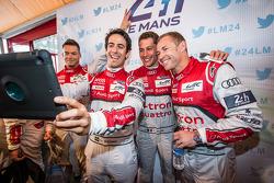 Andre Lotterer, Lucas Di Grassi, Loic Duval and Tom Kristensen