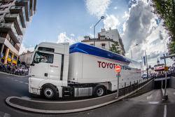 Toyota Racing transporter