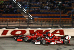 Scott Dixon, Target Chip Ganassi Racing Chevrolet and Tony Kanaan, Target Chip Ganassi Racing Chevrolet