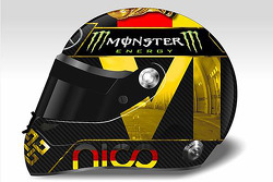 F1: Nico Rosberg's special helmet celebrating Germany's World Cup win