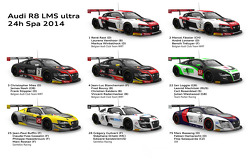 The Audi R8 LMS ultra armada