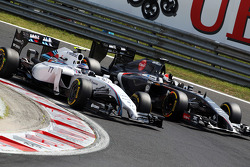 F1: Valtteri Bottas, Williams FW36 and Adrian Sutil, Sauber C33