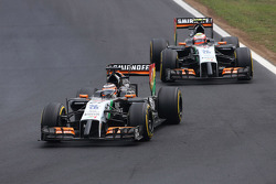 Nico Hulkenberg, Sahara Force India and Sergio Perez, Sahara Force India