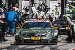 Robert Wickens, HWA DTM Mercedes AMG C-Coupé leaves the pit too early