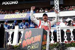 Dale Earnhardt Jr. celebrates