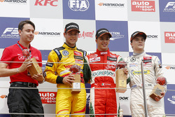 Podium: race winner Antonio Fuoco, second place Tom Blomqvist, third place Lucas Auer