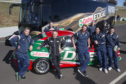 Qantas Wallabies and Bathurst 1000 winners Mark Winterbottom and Russell Ingall officially launch the Castrol EDGE Rugby Championship