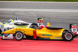 Richard Goddard, ThreeBond with T-Sport Dallara F312 NBE and Sandro Zeller, Jo Zeller Racing Dallara F312 Mercedes