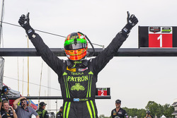 Ryan Dalziel celebrates pole