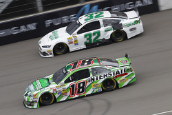 Terry Labonte, FAS Lane Racing Ford and Kyle Busch, Joe Gibbs Racing Toyota