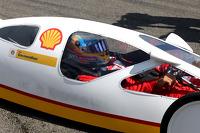 Fernando Alonso, Scuderia Ferrari drives a car from the Shell Eco Marathon