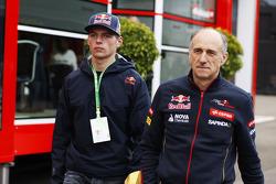 F1: (L to R): Max Verstappen, Scuderia Toro Rosso with Franz Tost, Scuderia Toro Rosso Team Principal